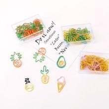 Clipes de papel cor abacaxi forma adorável bookmark clipe de papel kawaii cenoura acessórios de escritório clipes clipes de papel