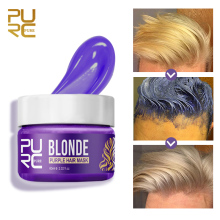 PURC Purple Hair Mask Removes Yellow And Brassy Tones Repairs Frizzy Make Hair Soft Smooth Professional Hair Mask Hair Care 60ml