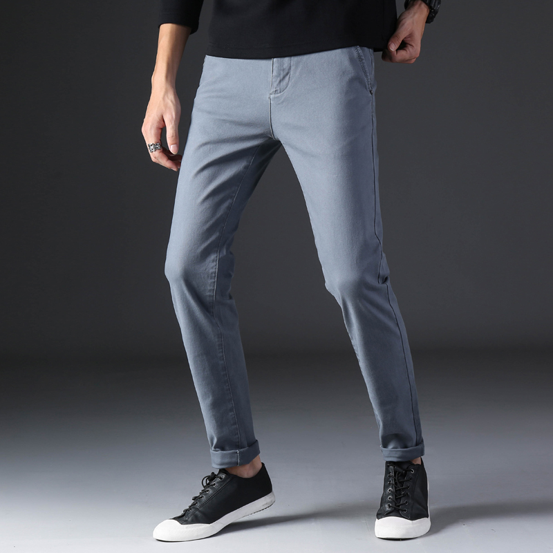 KSTUN 2020 Spring Summer New Casual Pants Men Cotton Slim Fit Chinos Fashion Trousers Male Brand Clothing Basic Mens Pants 22