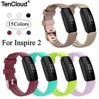 Pulseira para fitbit inspire 2, pulseira de substituição inspire2 de silicone, acessórios de relógio inteligente, cinto ajustável