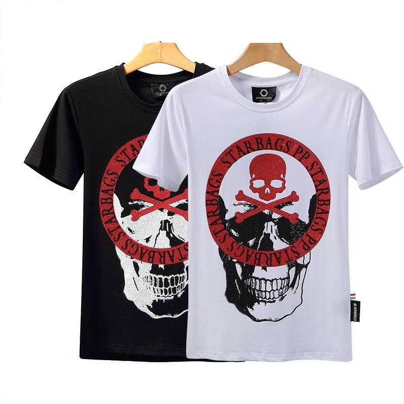 Starbag PP original color diamond skull cotton round neck short sleeve men's T-shirt Italian special counter hot Limited Edition