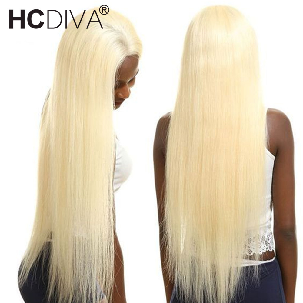 613 Blonde Lace Front Wigs 150% Lace Front Human Hair Wig Pre Plucked With Baby Hair Remy Tranasparent Lace Blonde Brazilian Wig-in Human Hair Lace Wigs from Hair Extensions & Wigs    1