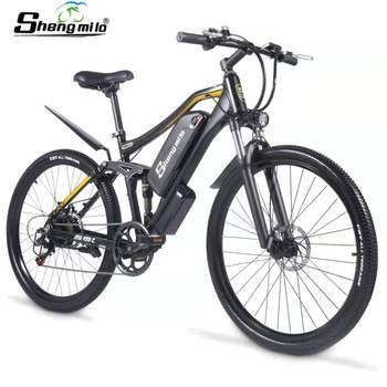Electric Bike M60 Plus Mountain Ebike 500W Men's Bicycle 27.5Inch Outdoor For Beach MTB 48V17AH Sport Cycling Snowbike ShengMilo 1