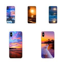 Мягкий прозрачный чехол для телефона Sony Xperia XZS XA1 L1 XA X Z Z1 Z2 Z3 Z4 Z5 XZ1 Compact E5 XZ Premium Wonderful Sunset Beach