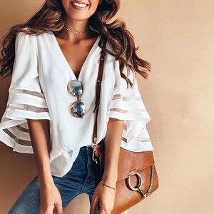 Модная женская футболка shein vadim, женская рубашка ropa mujer, топы с v-образным вырезом, свитшот с коротким рукавом, пуловер, футболка, бесплатная до...