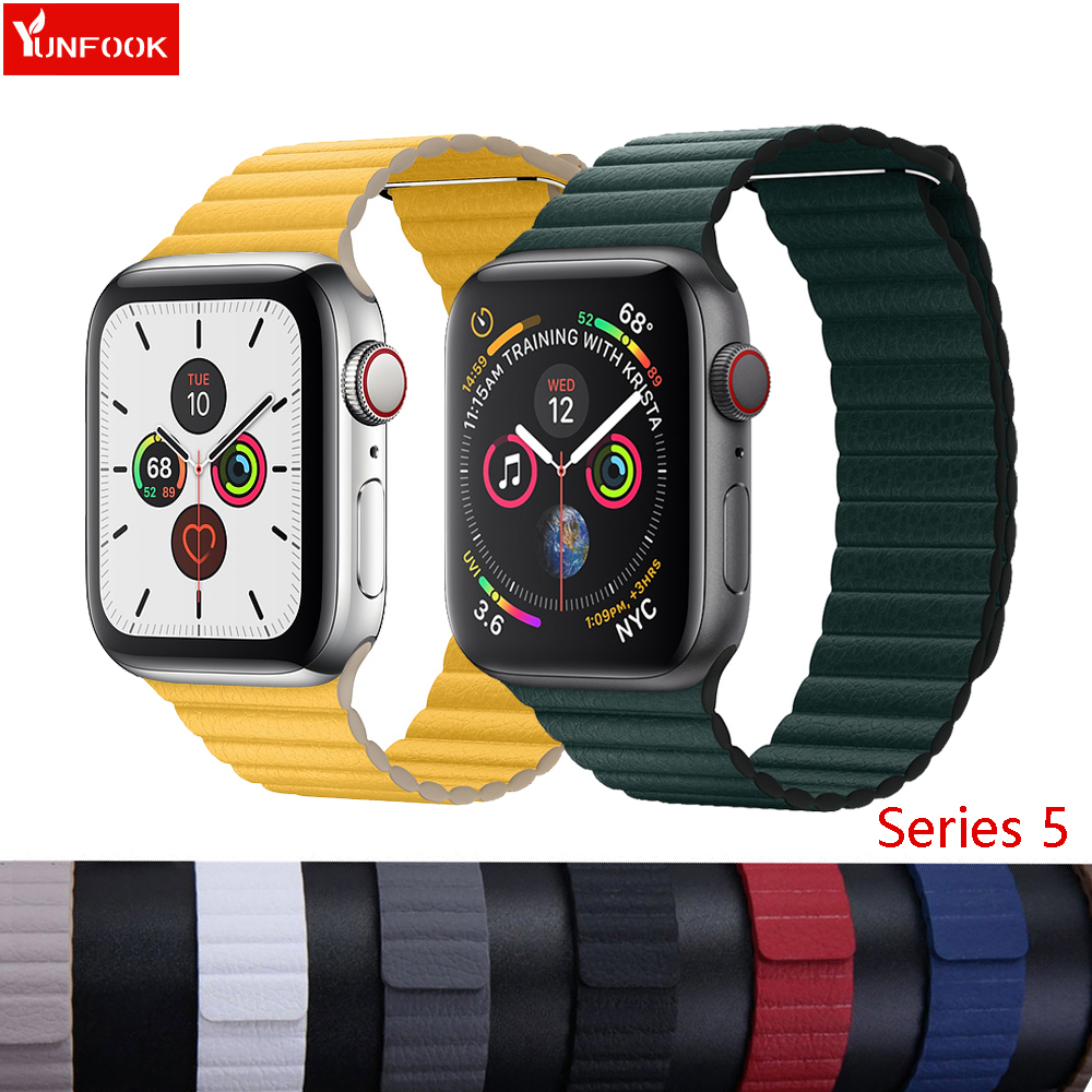 Leather Loop Strap For Apple Watch 5 Band 44mm 40mm Correa Iwatch 4 3 42mm 38 Mm Loop Buckle Watchband Bracelet Apple Watch Band