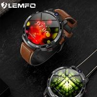 LEMFO-reloj inteligente LEM12pro 4 + 64G para hombre, dispositivo con Android 10, pantalla de 400x400, 1,6 pulgadas, cámara Dual, 4G, batería externa de 900 mAh, Google Play