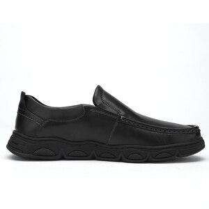 Image 3 - Zapatos de hombre CAEML, nuevos conjuntos informales de piel auténtica de vaca para hombre, zapatos de negocios, cómodos y suaves, calzado acolchado ligero para hombre