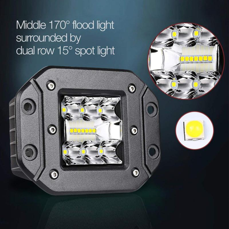 5 zoll 6000K Spot Flood <font><b>LED</b></font> <font><b>Work</b></font> Licht Auto Lkw Off-Road Lampe Flush Montieren Stoßstange IP68 Wasserdicht <font><b>LED</b></font> Flush Mount Lichter image