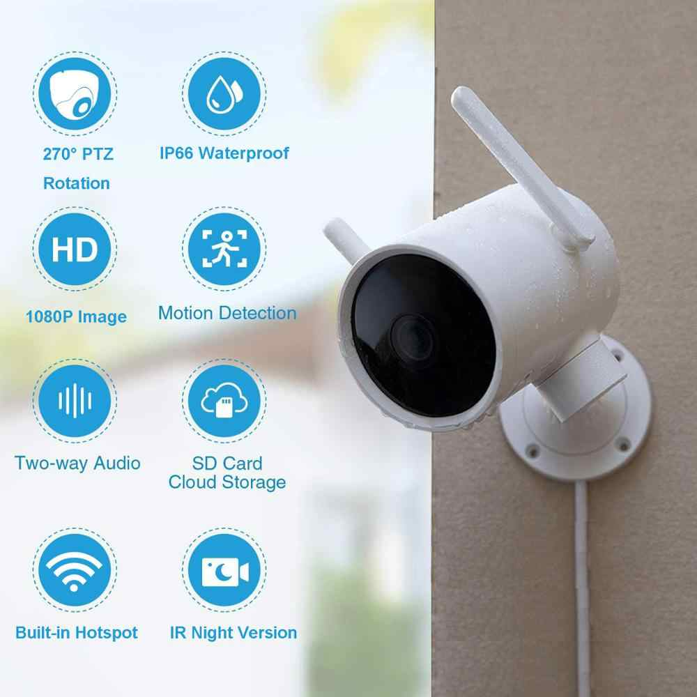 Xiaomi Smart Kamera Luar Ruangan Tahan Air Ai Humanoid Deteksi Webcam 270 1080P Wifi H.265 Malam Visi Panggilan Suara Alarm Ip cam