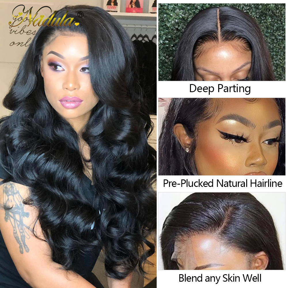 Nadula Hair 5x5 HD Lace Closure With Bundles  Body Wave Bundles With Closure  Transparent Frontal and Bundles 2