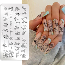 PICT YOU Nail Stamping Plates Line Pictures Stencil Stainless Steel Nail Design for Printing Nail Art Image Plate PY-J040