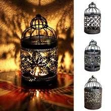 Винтажный полый подсвечник фонарик подвесной стол украшение