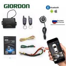 SmartPhone שליטה PKE אזעקה לרכב מערכת ערכת חכם פסיבי אוטומטי נעילה מרכזית רכב דלת Keyless לדחוף מרחוק כפתור MP900A