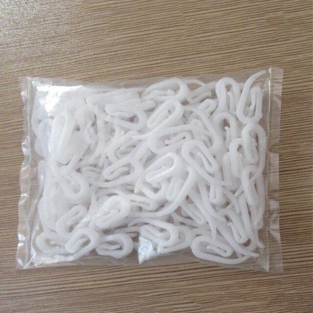 100pcs/pack Plastic 6 Shape Curtain Hooks 4