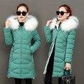 Neue Frauen Winter Medium Lange Baumwolle Brief Casual Mit Kapuze Jacken Damen Dicke Warme Slim fit Parkas Weibliche Mantel Mantel T57