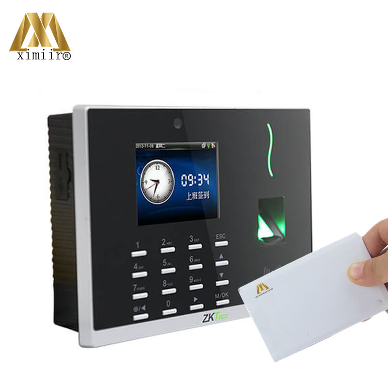 Free SDK,Software ZK WIFI Fingerprint Time Attendance CS800 With 13.56Mhz IC Card Reader Free Shipping