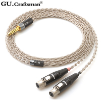 GUcraftsman 6n silver For AUDEZE LCX X LCD XC LCD2 LCD3 LCD4 4Pin XLR 2.5mm/4.4mm Balanec Headphone upgrade Cables