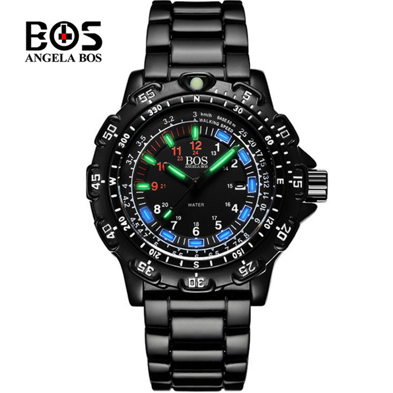 Novel Tritium Super Luminous Watches For Men Imported Japan Quartz Wristwatch Cool Sporty Guys Leisure Watches Waterproof Montre