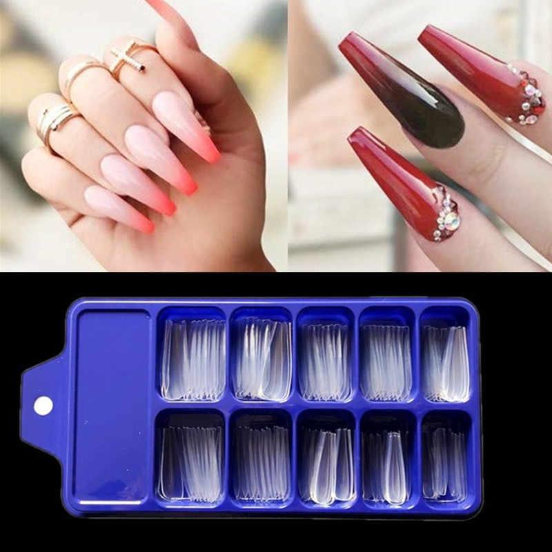 100Pcs Acryl Valse Valse Nail Art Vingernagel Ovale Professionele Volledige Cover Fasle Nail Art Vingernagel Full Color Kaart Polish