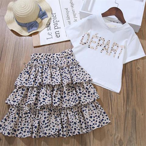 bebe meninas roupas de verao algodao da crianca das meninas roupas camiseta leopardo conjunto agasalho