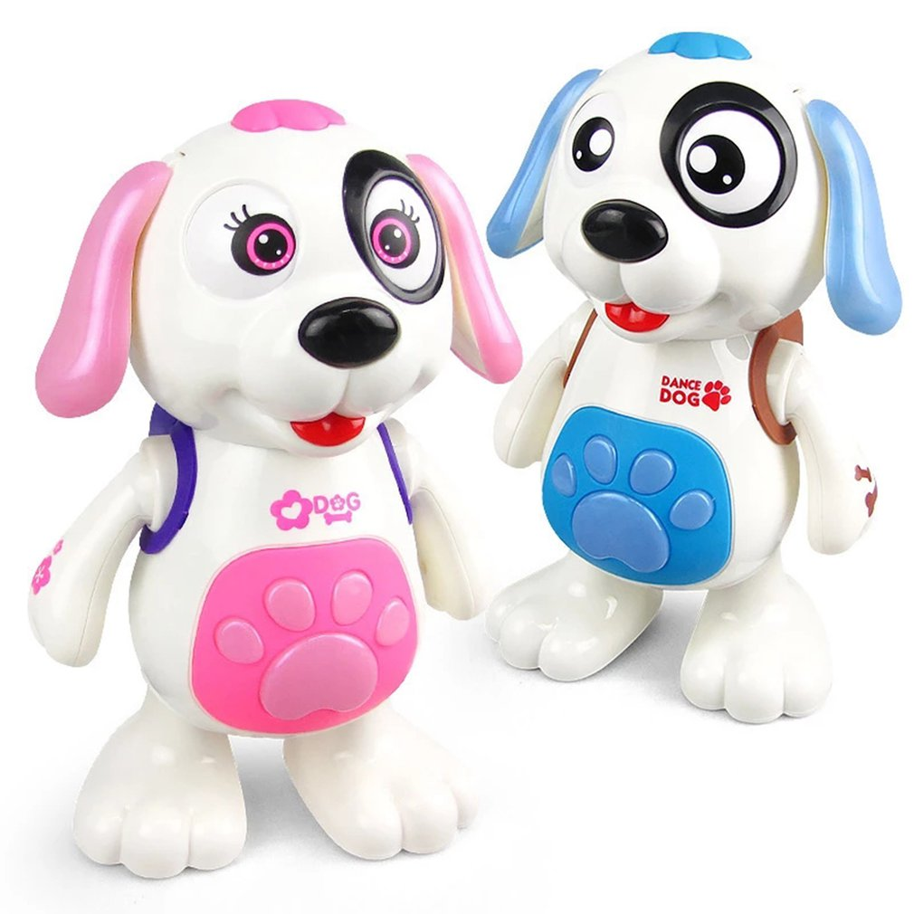 Electric Music Light Dance Walk Robot Dog Toy Without Battery Puppy Bounce Interesting Bionic Function Toy