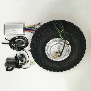 Barra de rodas elétrica, 24v 36v 48v 350w 500w, motor de engrenagem de barra de rodas elétricas, kit off pneu duro de estrada 14.5 polegadas