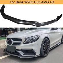 Lame de pare-choc avant en Fiber de carbone, accessoire de voiture, Mercedes Benz W205 C63 AMG 4 portes 2015 – 2018