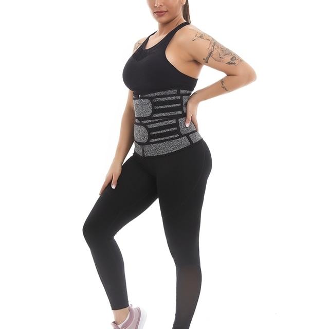 1Pcs Women Body Shaper Belt Hot Sweat Belt Neoprene Sauna Suit for Weight Loss Cincher Workout 5