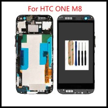 High Quality 100%Tested Well Working LCD Display  For HTC ONE M8  LCD Display +Touch Screen  and Tools jskei для htc 816h lcd black