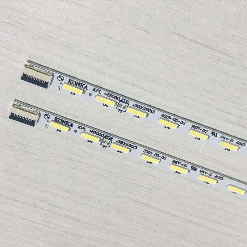 2pcs X 55 Inch KPL+550B1LED2 Backlight Strips For Konka TV LED55M5580AF LED55F5570NF 55G5000 LED55F5510PF 56-LEDs 613mm