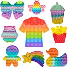 Autyzm specjalne potrzeby stres śmieszne zabawki zabawki typu Fidget Push Bubble Fidget Sensory Toyreliever anty stres gniotki nerwowe tanie tanio CN (pochodzenie) MATERNITY W wieku 0-6m 7-12m 13-24m 25-36m 4-6y 7-12y 12 + y 18 + fidget toys kids fidget toys Sport silicone toys