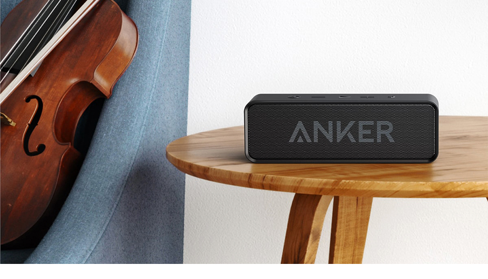 Anker Soundcore Portable Wireless Bluetooth Speaker with Dual-Driver Rich Bass 24h Playtime 66 ft Bluetooth Range & Built-in Mic