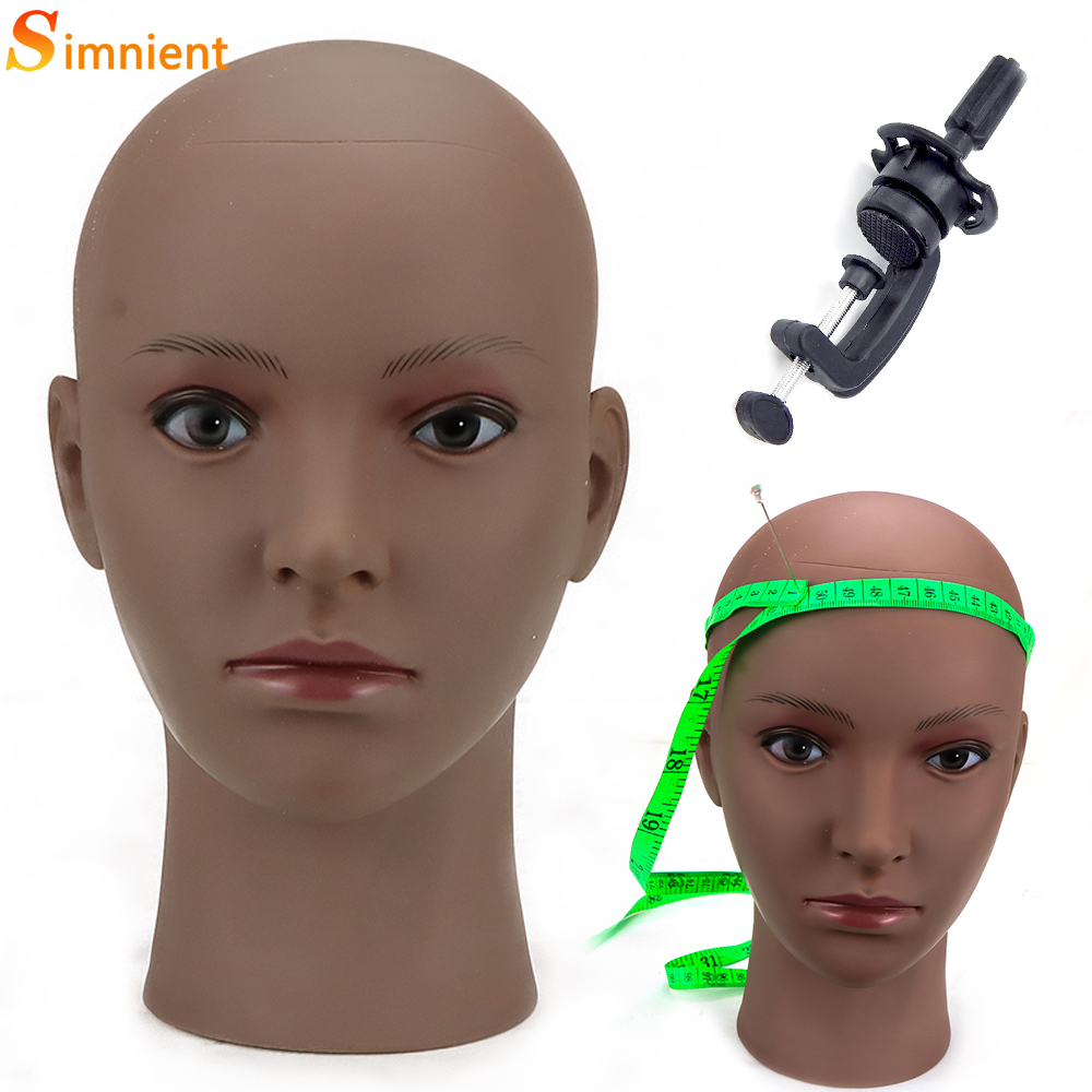 Hot Sale African Mannequin Head Without Hair For Making Wig Hat Display Cosmetology Manikin Head Female Dolls Bald Training Head