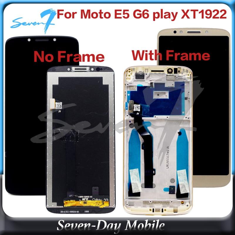 100% testado tela lcd para motorola moto e5 g6 jogar xt1922 XT1922-3 display lcd com montagem da tela de toque