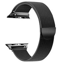 цена на Milanese Loop For Apple Watch band strap 42mm/38mm iwatch 5/4/3/2/1 Stainless Steel Link Bracelet wrist watchband Accessories