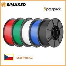A impressora 3d simax3d parte o filamento do pla 1.75mm pla 1kg pelo material do pla do rolo para o filamento 3d da impressora do pla do filamento da impressão 3d