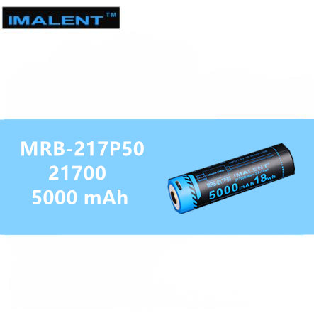 1 PCS IMALENT 21700 5000mah 15A Rechargeable USB Battery