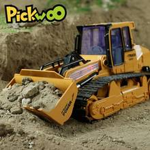 Pickwoo C4 1 16 RC Excavator Toys 2 4Ghz 10 Channel Remote Control Engineering Car with Music Lighting Vehicle RTR for Kids Gift cheap LBLA Plastic CN(Origin) 40*19*18 5cm as shown Cars 30 to 50 meters do not swallow the small parts MODE2 10 Channels Original Box