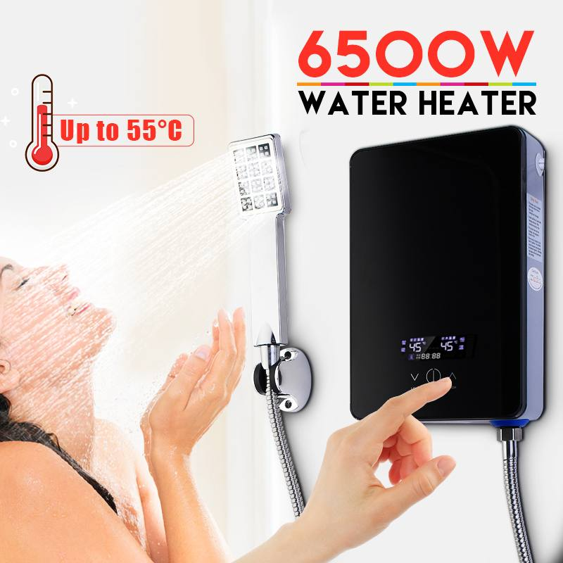 New Design Electric Hot Water Heater Instant Heating 220V 6500W Overheating Protection Constant Temperature With Shower Nozzle