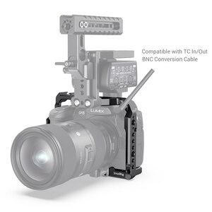 Image 4 - SmallRig для Panasonic Lumix GH5 /GH5S клетка для камеры с резьбой 1/4 3/8 отверстия + крепление для холодной обуви Набор рельсов NATO 2646