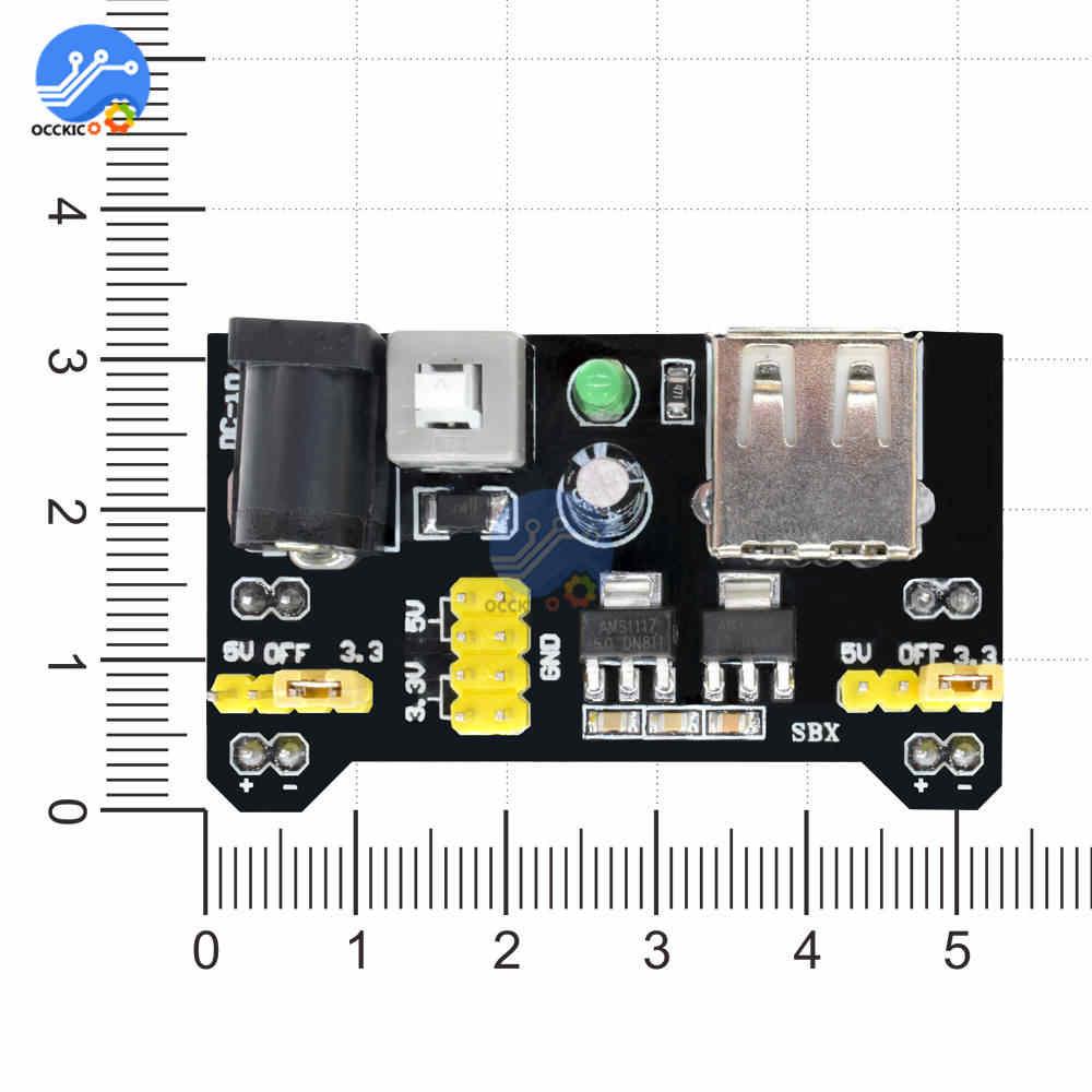 MB102 Breadboard Power Modul USB Port 3,3 V 5V Für Arduino Solderless Brot Board DIY Kit