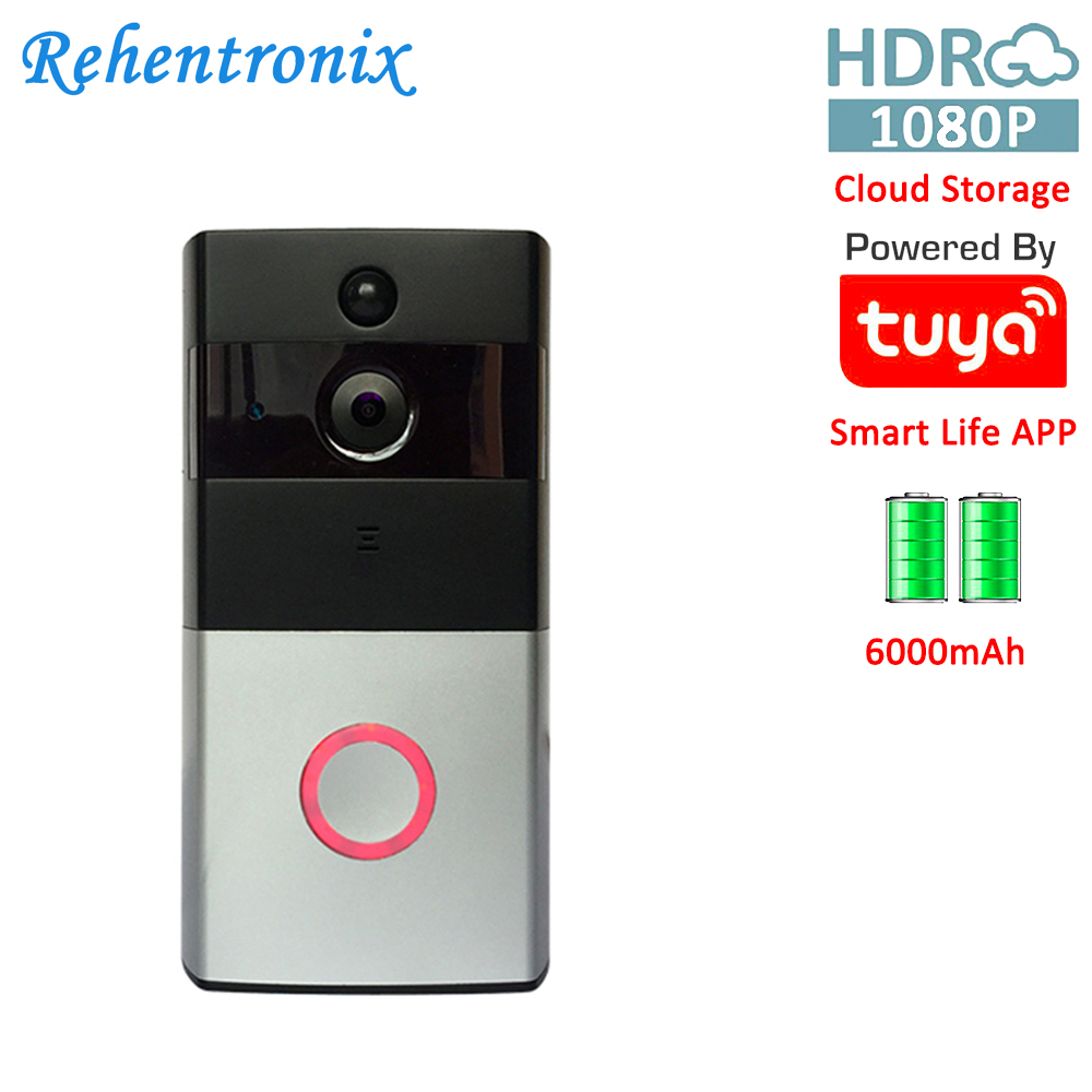 1080P Two Way Audio Battery Powered Smart Ring Wireless Video Doorbell Camera Tuya Smart Life APP Remote View