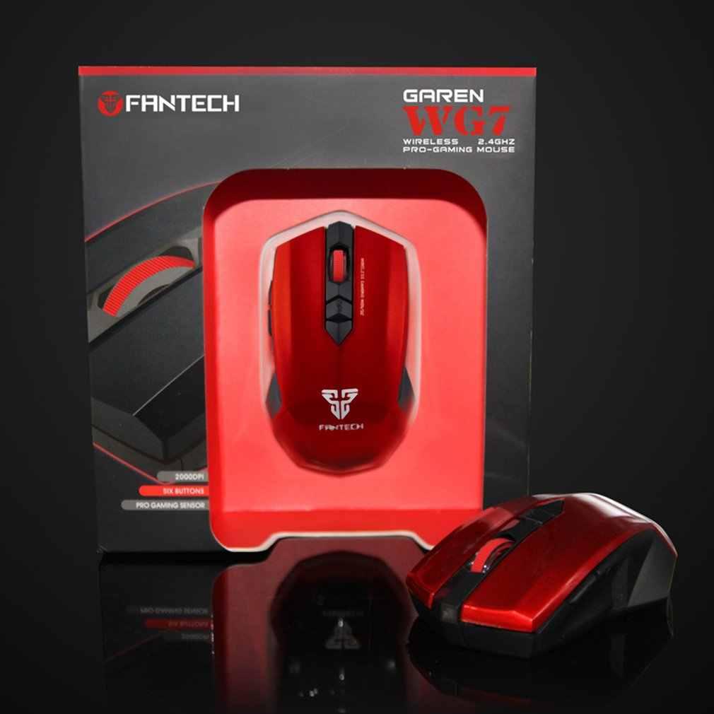 FANTECH WG7 2.4Ghz kablosuz optik fare 2000DPI 6 tuşları oyun fare için uygun oyunları ofis