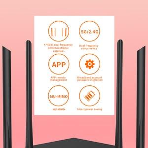 Image 3 - GC10 واي فاي مكرر AC1200M موزع إنترنت واي فاي لاسلكي مع 2.4Ghz/5.0Ghz هوائي عالي الكسب تغطية المنزل ثنائي النطاق ، الإعداد السهل