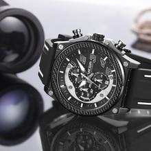 MEGIR Quartz Men Sport Watch Big Dials Silicone Strap Army Military Watches Clock Men Chronograph Wristwatches Relogio Masculino цены онлайн
