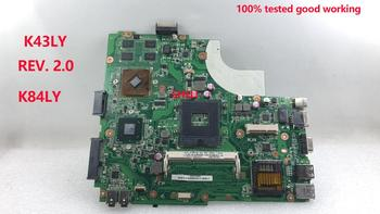 laptop Motherboard Mianboard SHELI For Asus K43LY K84LY rev . 2.0 main board HM65 ATI 7470M 1GB 100% tested good working