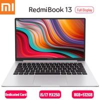 Xiaomi RedmiBook 13 Laptop 13.3 inch Full Screen 1080P i7 10510U/i5 10210U MX250 Windows 10 8GB DDR4 512GB SSD Notebook