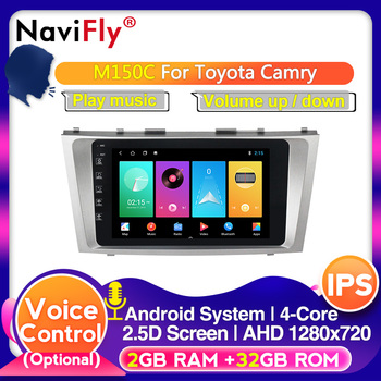IPS 2.5D Screen Android 10.0 Head Unit 4G Car Radio Multimedia Video Player Navigation GPS For Toyota Camry 7 XV 40 2006-2011 image