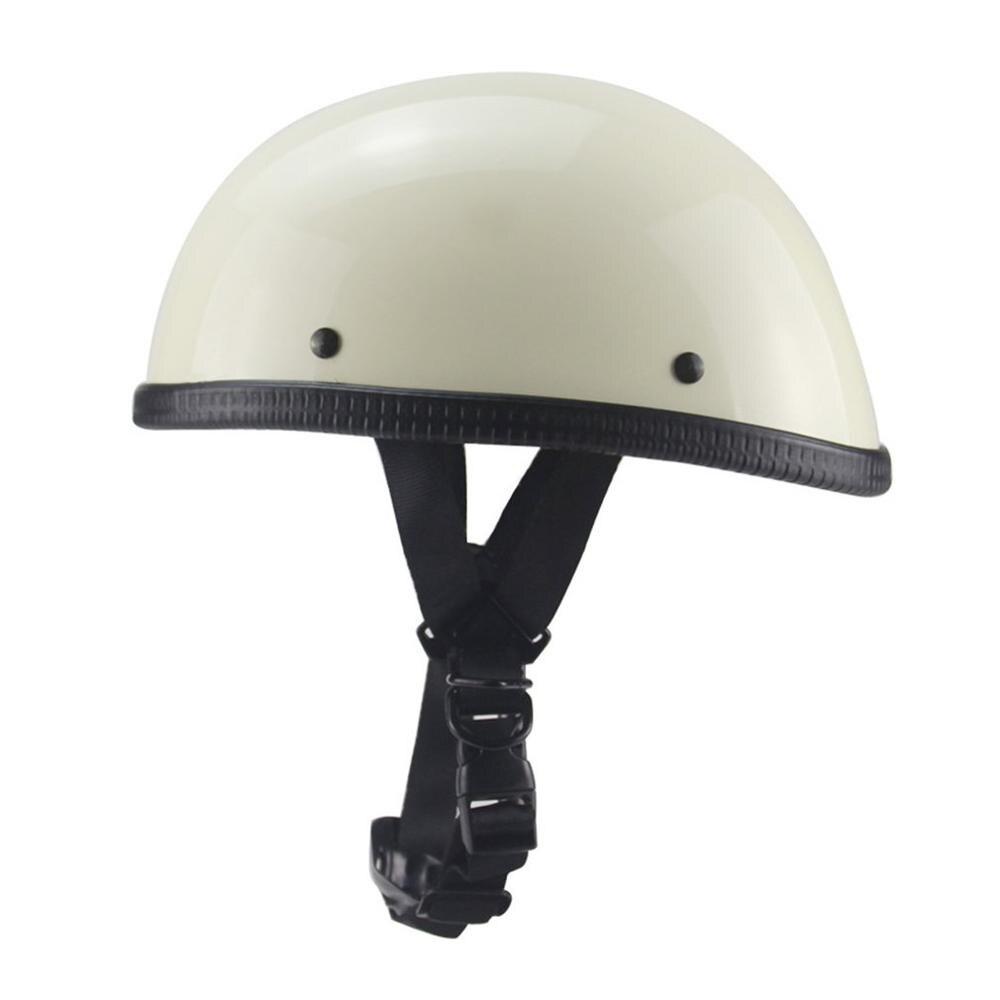 Мотоцикл немецкий открытый шлем Чоппер Крузер Байкер скутер половина шлем с черепом Кепка Чоппер поплавок байкер